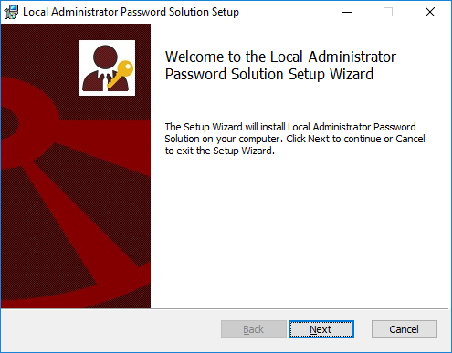 Local Administrator Password Solution Setup