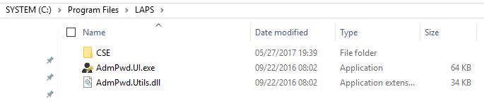 LAPS UI AdmPwd file root
