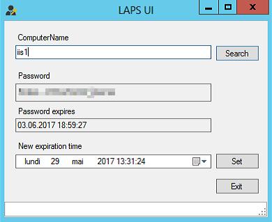 LAPS UI Client