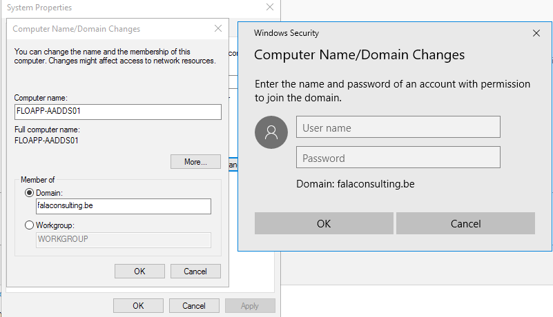 System Properties - Computer Name/Domain Changes - Windows Security