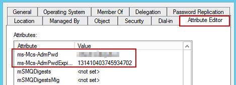 Active Directory MMC - Attribute Editor