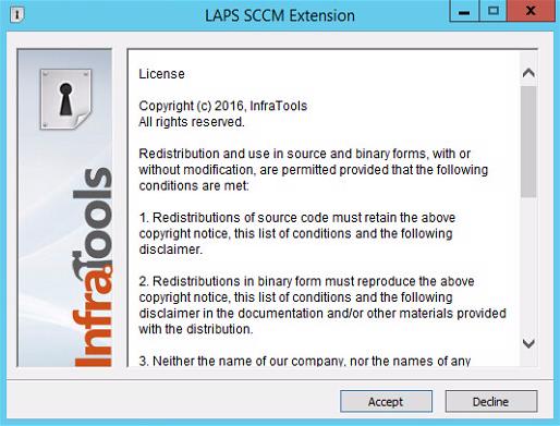 LAPS SCCM Extension - License