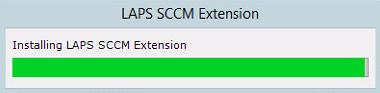 LAPS SCCM Extension - Installing progress