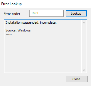 CMTrace display Error Lookup