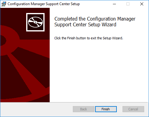Configuration Manager Support Center Setup