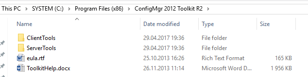 ConfigMgr 2012 Toolkit R2 root