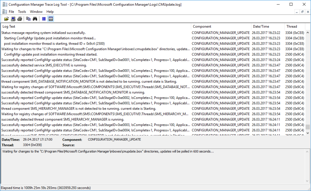Configuration Manager Trace Log Tools (Log Text)