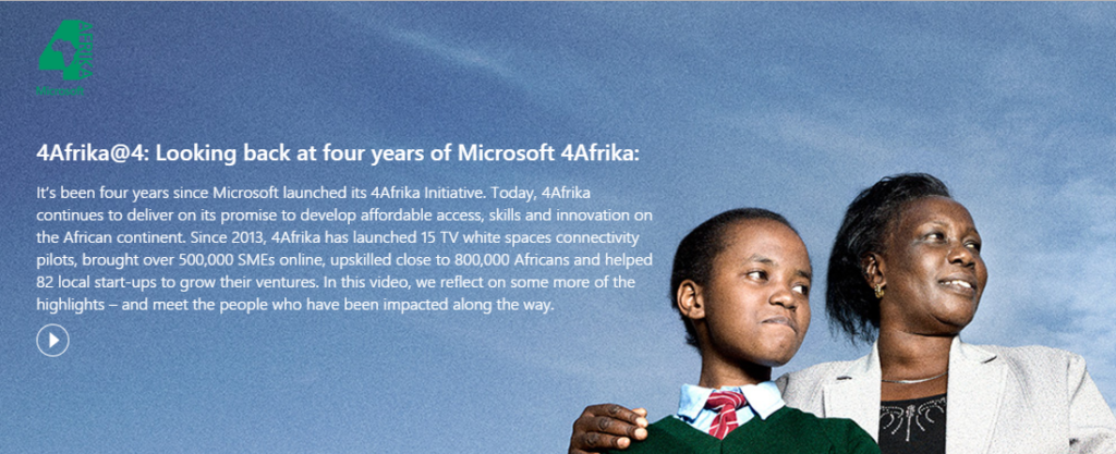 4Africa@4: Looking back at four years of Microsoft 4Africa - poster