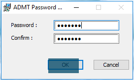 ADMT Password Migration DLL - Password and Confirmation window