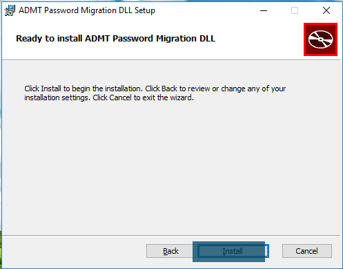 ADMT Password Migration DLL Setup - Ready to install