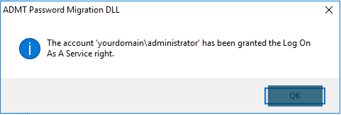 ADMT Password Migration DLL - Log On