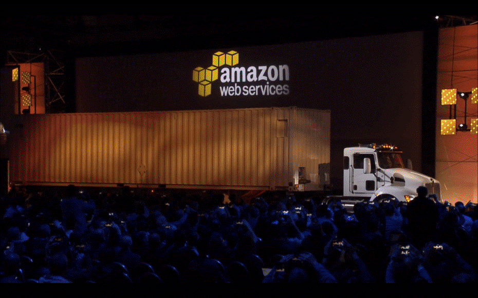 Amazon Web Services - Snowmobile concept - Truck version