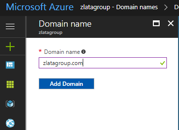 Microsoft Azure Active Directory - Domain Names
