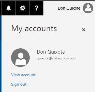 Microsoft Azure Active Directory - Users Profile - My Accounts