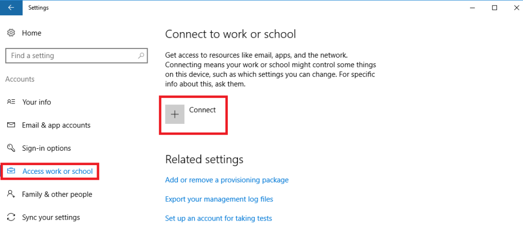 Windows Settings - Accounts - Add user