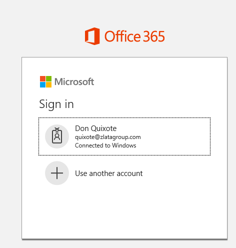 Microsoft Office 365 - Sign In - Connected to Windows