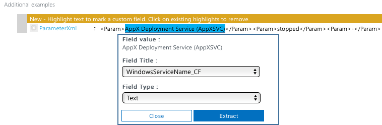 Microsoft Operations Management Suite - Select the Text - Extract