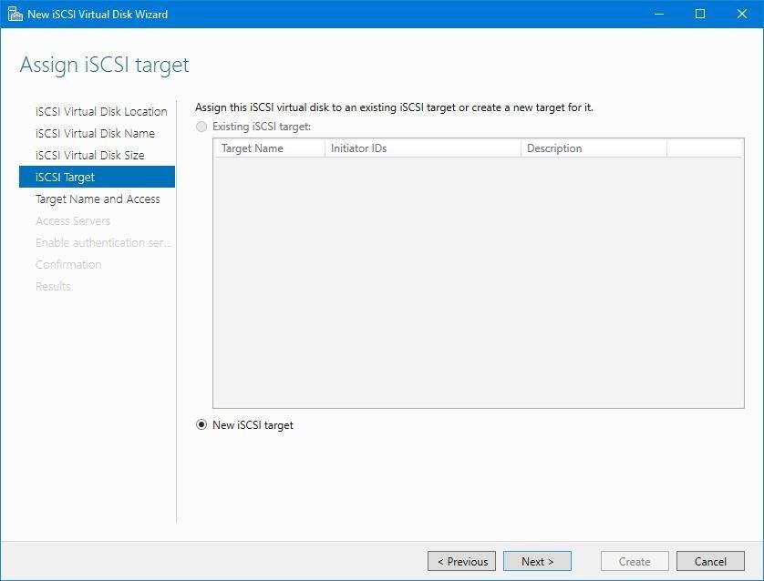 Assign iSCSI target