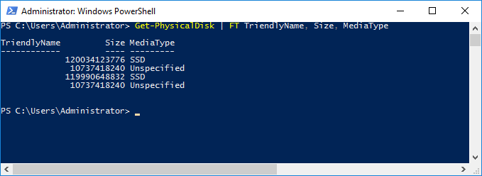 PowerShell window - Change the Media Types