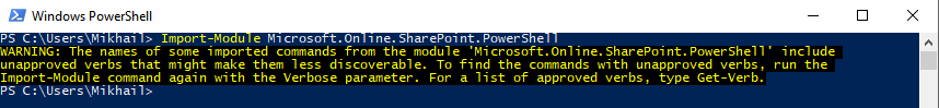 Windows PowerShell - Import-Module