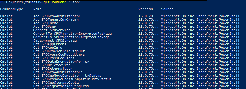 Windows PowerShell - Get-Command