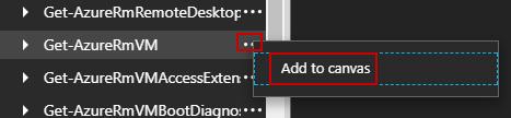 Get-AzureRmVm - Add to canvas