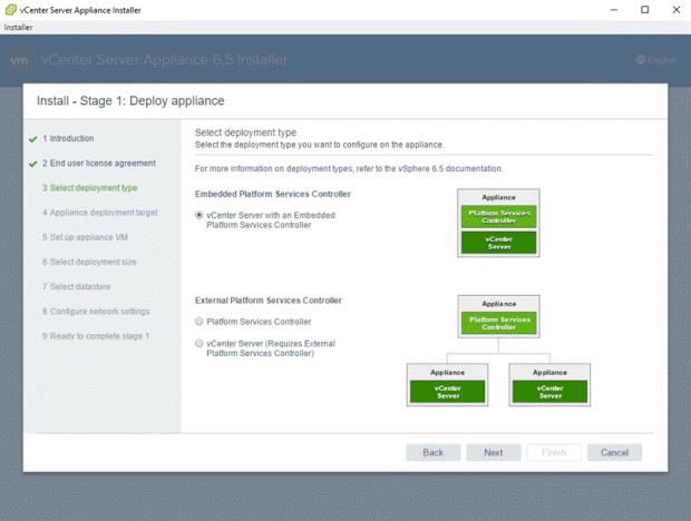 VMware - vCenter Server Appliance 6.5 Installer - Install - Stage 1 - Deploy Appliance - vCenter Server