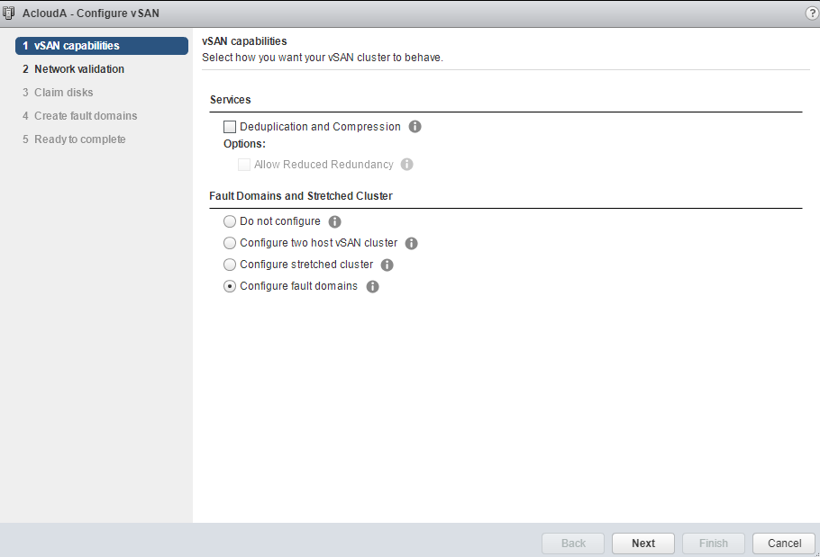 VMware - vCenter - Configure vSAN - vSAN capabilities