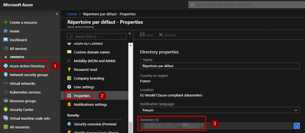 copy and paste your Azure Active Directory ID as shown below