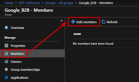 "Click ""Add members"