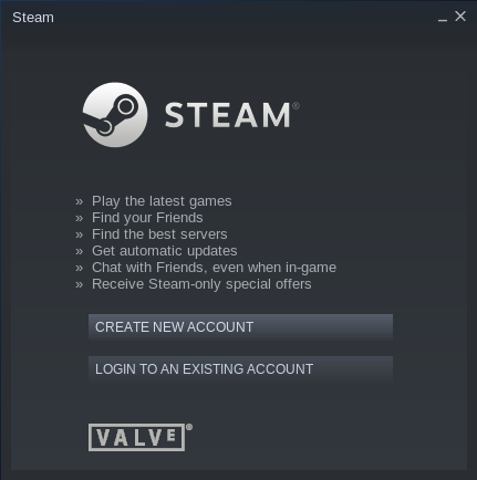 the Steam launcher is updating