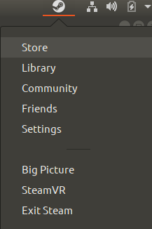 Steam icon now available on your top bar
