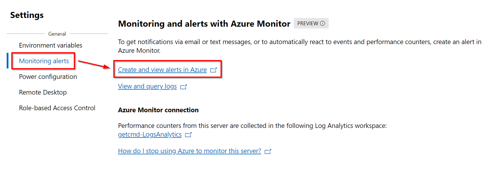 Create and view alerts in Azure