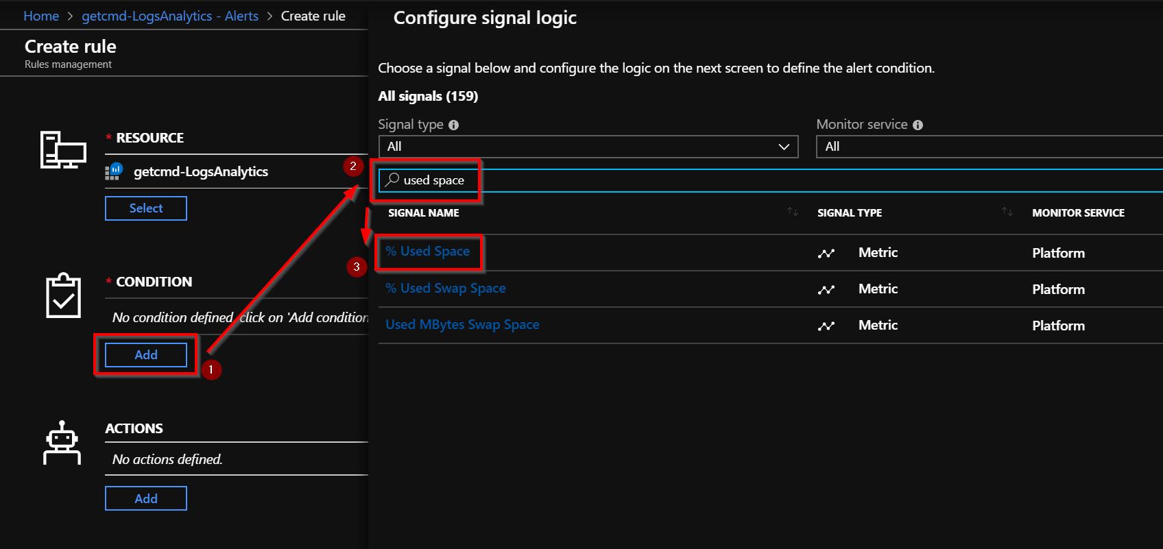"configure a ""signal logic"""