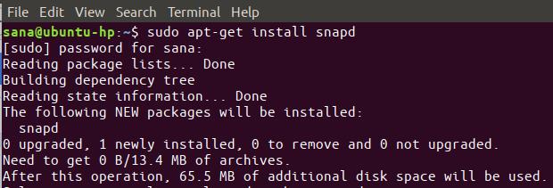 install the Snap daemon on your Ubuntu