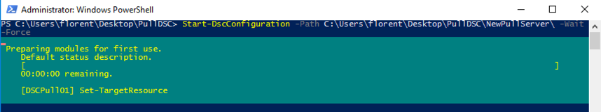 Launch the configuration of the server