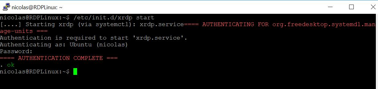 Start the xRDP service