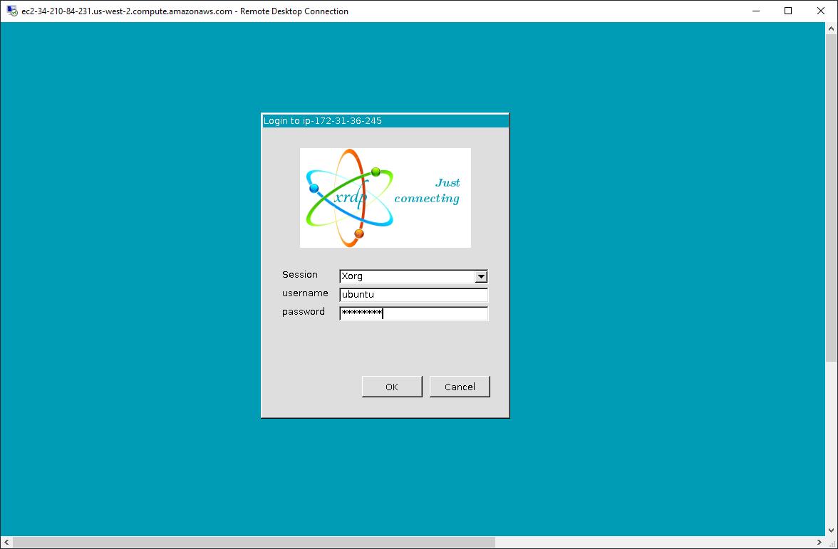 Remote Desktop Connection – xrdp login
