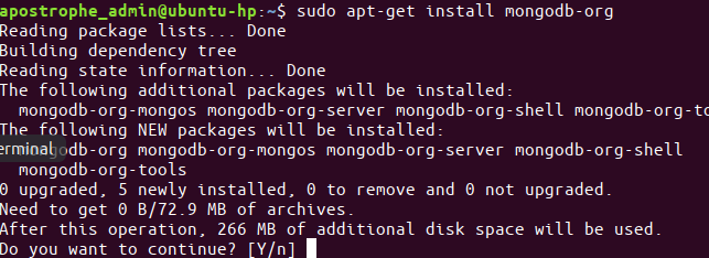 get install mongodb
