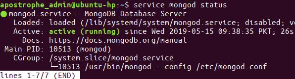 service mongod status