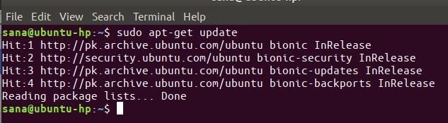 $ sudo apt-get update