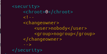<security> tab