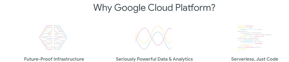 """Why Google Cloud Platform?"" - fragment of cloud.google.com main page"