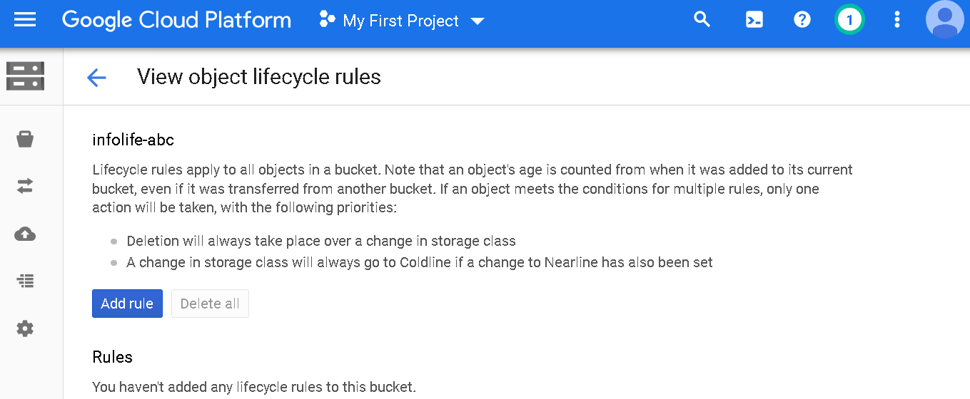 Add the lifecycle rule