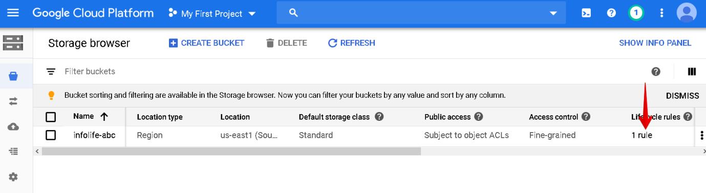 Storage browser window